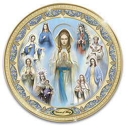 Visions of Mary Religious Heirloom Porcelain Collector Plate