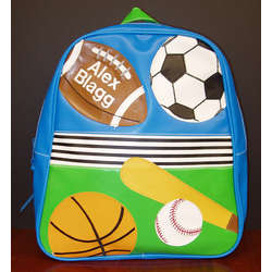Personalized Vinyl Sports Themed Backpack