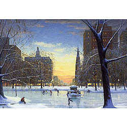Back Bay Skaters Holiday Greeting Cards