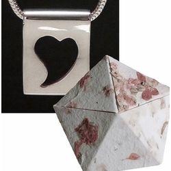 Silhouette Heart Pendant in Paper Anniversary Origami Box