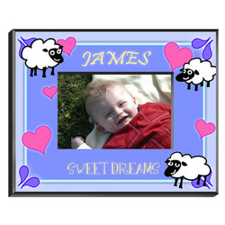 Personalized Blue Counting Sheep Frame