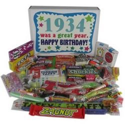 80th Birthday 1934 Retro Candy Box