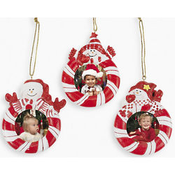 Red and White Snowman Ornaments