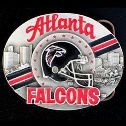 Atlanta Falcons NFL Pewter Belt Buckle