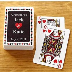 Personalized A Perfect Pair Deck of Cards