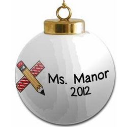 Personalized Teacher's Holiday Ornaments
