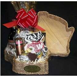 Wisconsin Badgers Gourmet Snacks Gift Basket