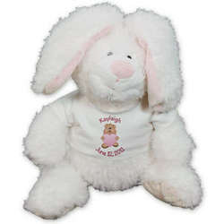 Personalized New Baby Girl Bunny