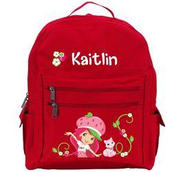 Strawberry Shortcake & Custard Red Backpack
