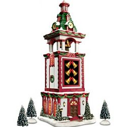 Musical Christmas Bell Tower Village