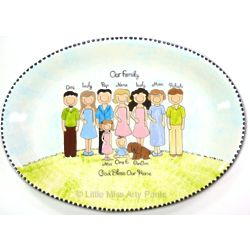 Personalized Family Portrait Platter