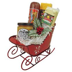 Wisconsin Cheese and Sausage Christmas Sleigh