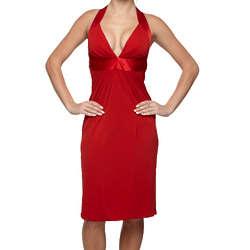 Silk Accent Red Dress