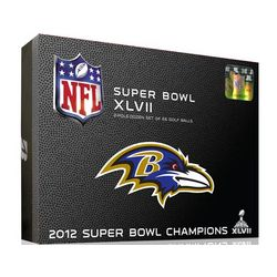 Baltimore Ravens Super Bowl Champs Golf Balls