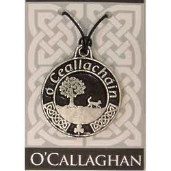 Personalized Irish Coat of Arms Pendant