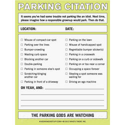 Parking Citation Notepad