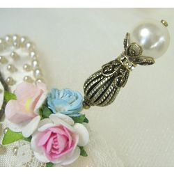 Victorian Pearl Hat Pin and Stick Pin