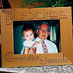 Personalized Best Buddies 5x7 Oak Frame