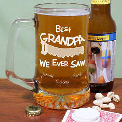 Personalized Best We Ever Saw Glass Beer Mug
