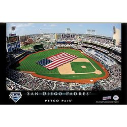 San Diego Padres 16x24 Personalized Baseball Stadium Print