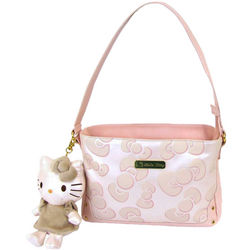 Hello Kitty Pink Bow Shoulder Bag with Mascot