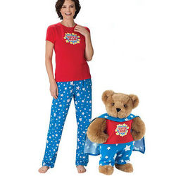 Super Mom Teddy Bear and Small PJs Gift Set
