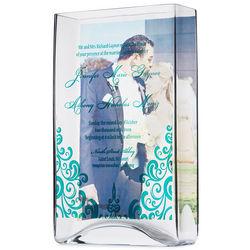 Handcrafted Blown Glass Custom Photo Memory Vase
