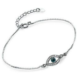 Evil Eye Bracelet with Cubic Zirconia