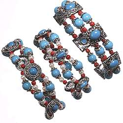 3 Piece Southwest Stretch Bracelet Set