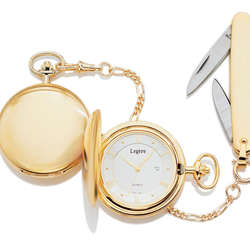23k Gold Electroplated Pocket Timepiece