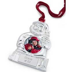 Engravable Santa Photo Ornament