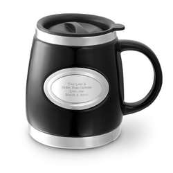 Black Stainless Steel and Ceramic Mug