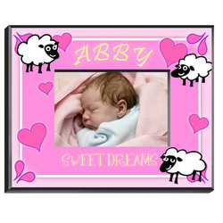 Personalized Pink Counting Sheep Frame