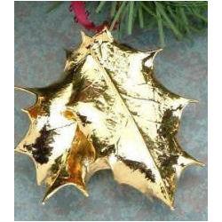 Real 24k Gold Holly Leaf