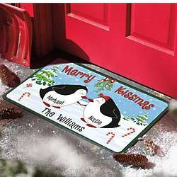 Personalized Merry Kissmas Doormat