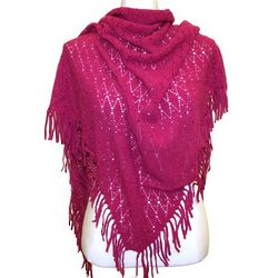 Diamond Knit Triangle Shawl