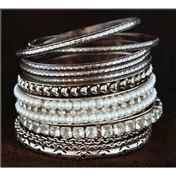 11-Piece Embellished Bangle Set