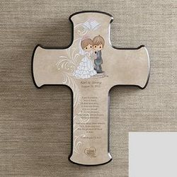 Personalized Bible Verse Precious Moments Wedding Wall Cross