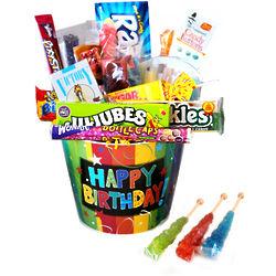 Happy Birthday Nostaglic Candy Bucket