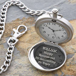 Personalized Retirement Pocket Watch