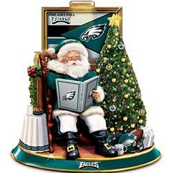 Philadelphia Eagles Talking Santa Tabletop Centerpiece