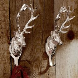 Stag Wall-Mounted Coat Hooks