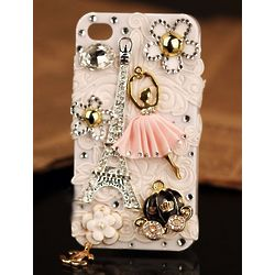 3D iPhone Eiffel Tower Girly Case