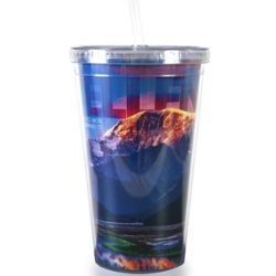 Excellence Mountain Acrylic Straw Tumbler
