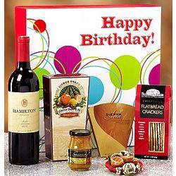 Happy Birthday Vineyard Select Red Wine Gift Box