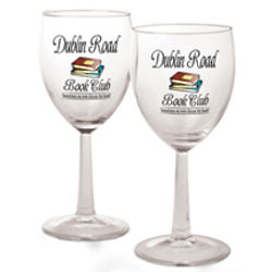 Personalized Book Club Wine Glasses