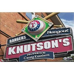 Texas Rangers 16x24 Personalized Pub Sign Print
