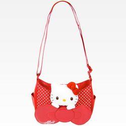 Peeking Hello Kitty Red Mini Shoulder Bag