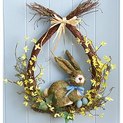 Easter Bunny Faux Wreath