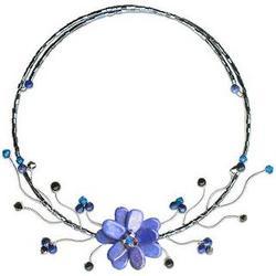 Lapis Lazuli Blue Bouquet Choker